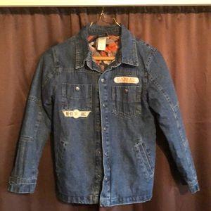Boys 8-10 Harley Davidson blue jean jacket